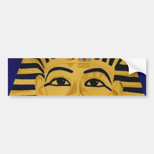 King Tut Tutankhamun gold burial mask sticker art Bumper Sticker