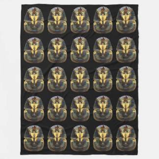 King Tutankhamun, Gold Mask Fleece Blanket