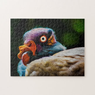 King Vulture 01 Digital Art - Photo Puzzle