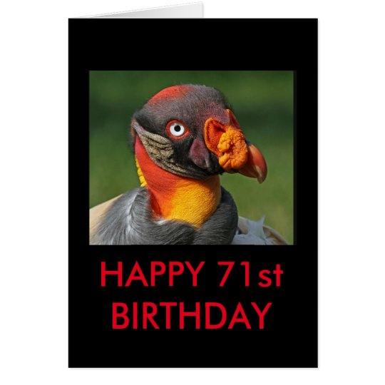 King Vulture - Happy 71st Card