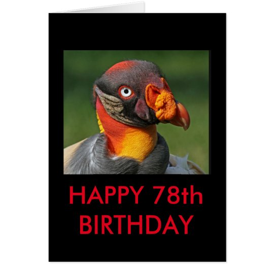 King Vulture - Happy 78th Card