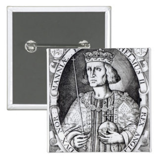 King William II of England, 1618 15 Cm Square Badge
