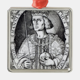 King William II of England, 1618 Silver-Colored Square Decoration