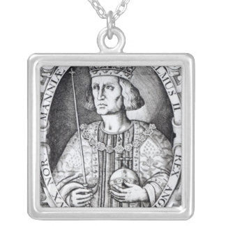 King William II of England, 1618 Square Pendant Necklace