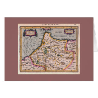 Kingdom of Fes, Antique Map - Greeting Card