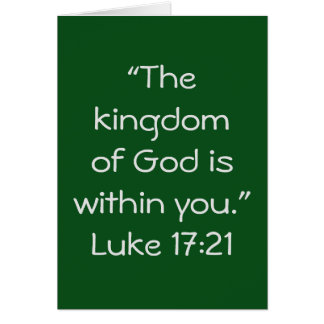 """Kingdom"" Scripture Greeting Card"
