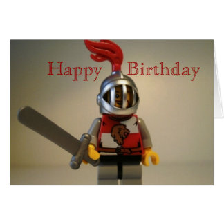 Kingdoms Lion Knight Minifig Happy Birthday Card