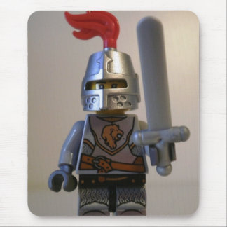 Kingdoms Lion Knight Minifigure with Armor Mouse Pad