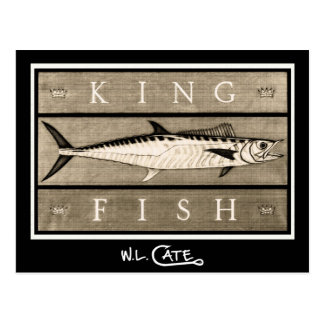 Kingfish Vintage Black & White Postcards