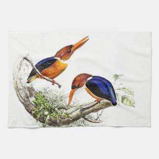 Kingfisher Bird Animal Wildlife Pond Kitchen Towel