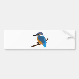 kingfisher bird waiting for love peace joy bumper sticker
