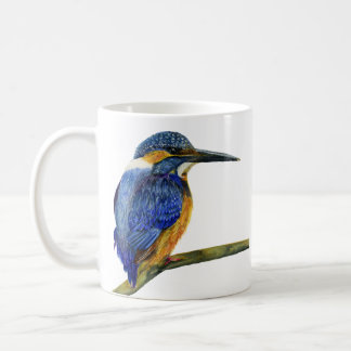 Kingfisher Bird Watercolor Halcyon Bird Coffee Mug