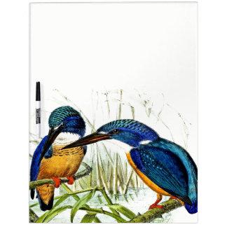 Kingfisher Birds Animals Pond Dry Erase Board