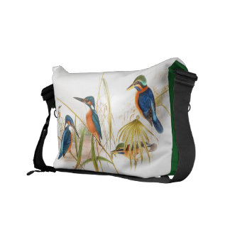 Kingfisher Birds Animals Wildlife Pond Commuter Bags
