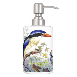 Kingfisher Birds Wildlife Animals Pond Bath Set