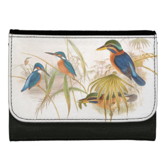 Kingfisher Birds Wildlife Animals Pond Leather Wallets
