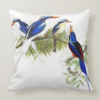 Kingfisher Birds Wildlife Animals Throw Pillow