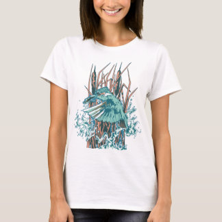 Kingfisher Catch A Fish By Reedss T-Shirt