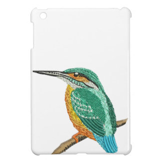 kingfisher embroidery imitation iPad mini case