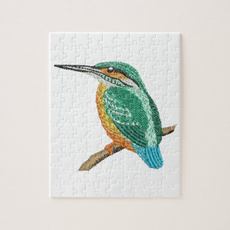 kingfisher embroidery imitation jigsaw puzzle