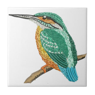 kingfisher embroidery imitation tile