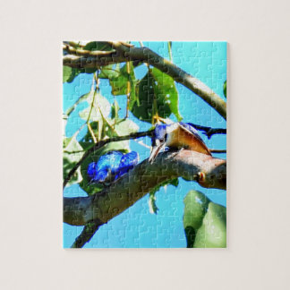 KINGFISHER IN TREE QUEENSLAND AUSTRALIA JIGSAW PUZZLE