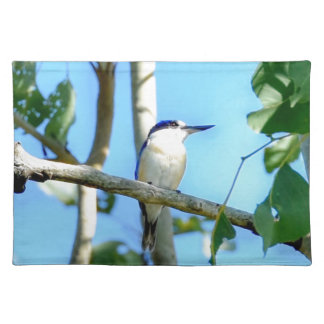 KINGFISHER IN TREE QUEENSLAND AUSTRALIA PLACEMAT