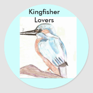 Kingfisher Lover Classic Round Sticker