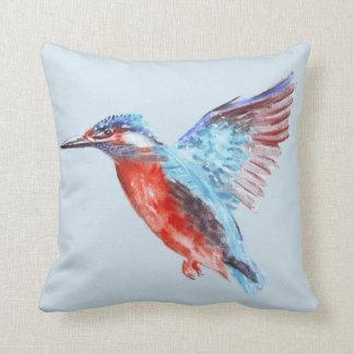 Kingfisher Watercolour Cushion