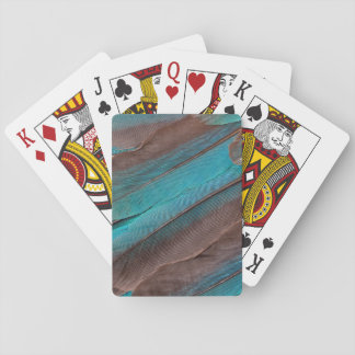 Kingfisher Wing Feathers Playing Cards