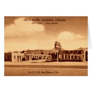 Kingman Arizona Bell's Motel Card