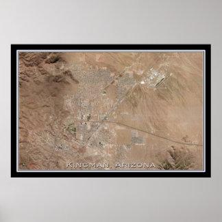 Kingman Arizona From Space Satellite Map Poster