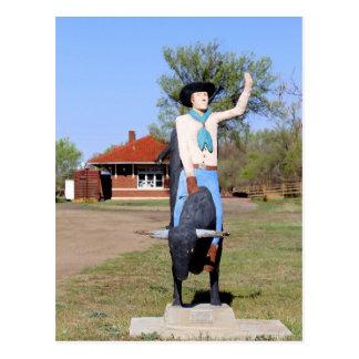 Kingman, Kansas, Bullrider Statue Postcard