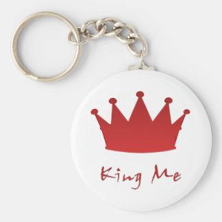 kingme! basic round button key ring