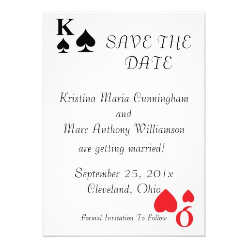 Kings and Queens Save The Date Announcement