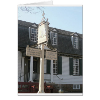 Kings Arms Tavern sign Colonial Williamsburg Greeting Card