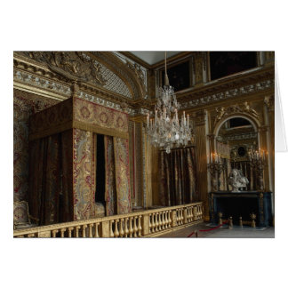 King's bed chamber, Palace of Versailles, France Card