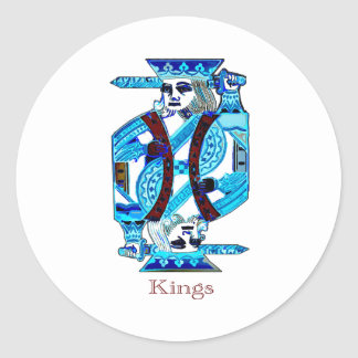 KINGS BLUE CLASSIC ROUND STICKER
