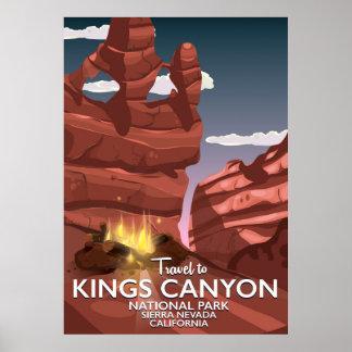 Kings Canyon Sierra Nevada Travel poster