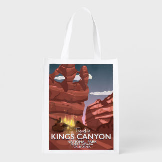 Kings Canyon Sierra Nevada Travel poster Reusable Grocery Bag