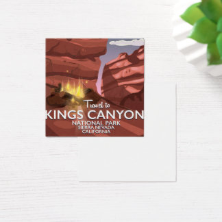 Kings Canyon Sierra Nevada Travel poster Square Business Card