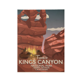 Kings Canyon Sierra Nevada Travel poster Wood Poster