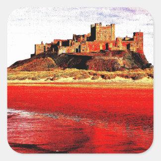 Kings Castle Square Sticker