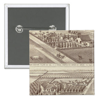 Kings Co ranches 15 Cm Square Badge