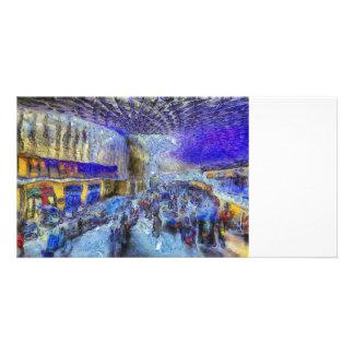 Kings Cross Rail Station London Art Card