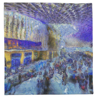 Kings Cross Rail Station London Art Napkin