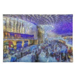 Kings Cross Rail Station London Art Placemat