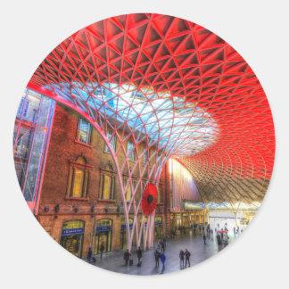 Kings Cross Station London Classic Round Sticker