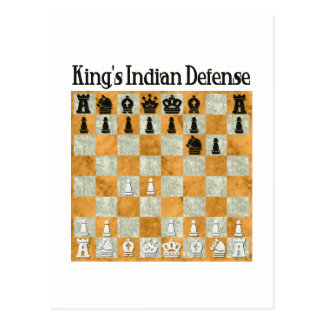 King's Indian Defense Postcard