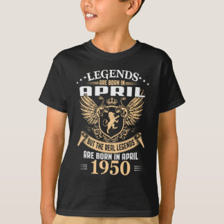 Kings Legends Are Born In April 1950 T-Shirt